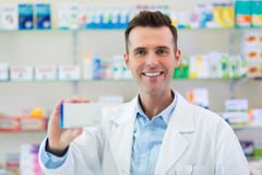 Pharmacist in drugstore royalty free stock photos