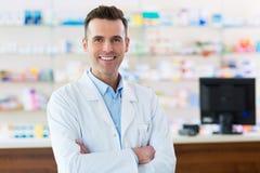 Pharmacist in drugstore Stock Photo