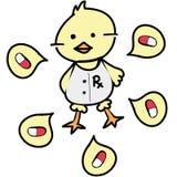 Pharmacist duck medical occupation. Cute pharmacist duck medical occupation Royalty Free Stock Photo