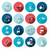 Pharmacist icon outline set Stock Photo