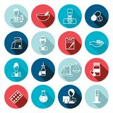 Pharmacist icon outline set Stock Photo