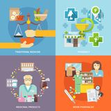 Pharmacist Icons Set Stock Photos