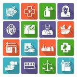 Pharmacist Icons Set Royalty Free Stock Image