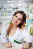 Pharmacist lady closeup Royalty Free Stock Photos