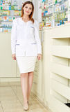 Pharmacist lady in full length Royalty Free Stock Images