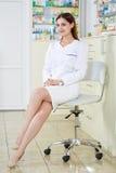 Pharmacist lady in full length Stock Photo