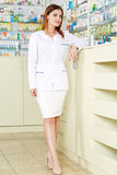 Pharmacist lady in full length Royalty Free Stock Photos