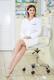 Pharmacist lady in full length Stock Images