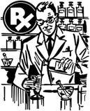 Pharmacist Mixing Medicine Stock Photo