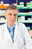 Pharmacist in pharmacy Stock Photo