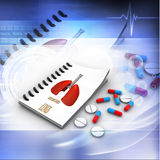 Pharmacist prescription with pills Royalty Free Stock Photos