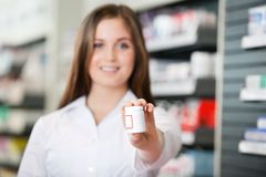 Pharmacist Recommending Medicine Royalty Free Stock Photo
