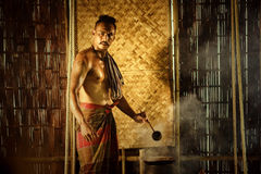 Pharmacist`s past Thailand A cook With the invention Royalty Free Stock Photo