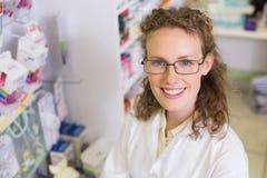 Pharmacist smiling at camera Royalty Free Stock Photos