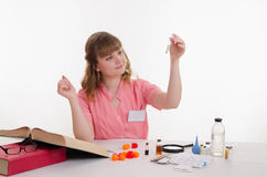 The pharmacist was desired powder Stock Image
