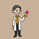 Pharmacist With Colorful Capsule Stock Image