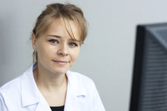 Pharmacist woman Royalty Free Stock Image