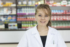 Pharmacist woman Stock Image