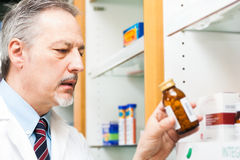 Pharmacist at work Stock Photography
