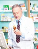 Pharmacist at work Stock Images