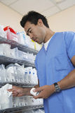 Pharmacist Working At Drug Store Royalty Free Stock Image