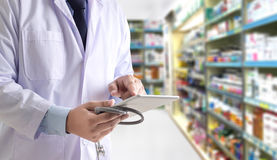 The pharmacist working pharmacy technician drugstore healthcare. Concept Empty copy space for content stock images