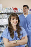Pharmacists In Hospital Room Royalty Free Stock Photos