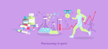 Pharmacology in Sport Icon Flat Isolated Royalty Free Stock Images