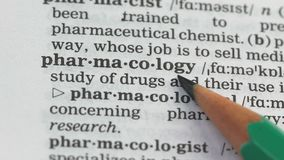 Pharmacology word meaning in dictionary, medication production business, studies