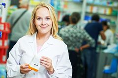 Pharmacutical chemist portrait Royalty Free Stock Photos