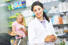 Pharmacutical chemist portrait Stock Photo