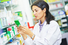 Pharmacutical chemist worker Stock Photography