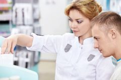 In the pharmacy Stock Photography
