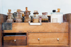 Pharmacy. On board of an old ship Royalty Free Stock Image