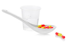 Pharmacy. Antibiotic pills Stock Photo