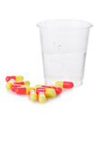 Pharmacy. Antibiotic pills Stock Image