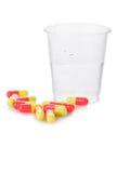 Pharmacy. Antibiotic pills Stock Image