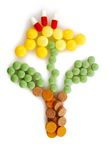 Pharmacy background. Some different pills as a form flower Royalty Free Stock Photo
