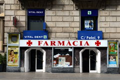 Pharmacy in Barcelona Royalty Free Stock Images