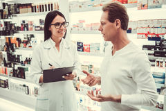 At the pharmacy stock images