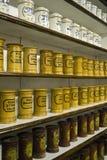 Pharmacy bottles stock photo