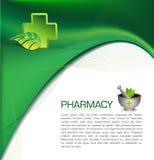 Pharmacy brochure. Green  of a pharmacy brochure Stock Images