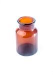 Pharmacy brown glass bottle Stock Image