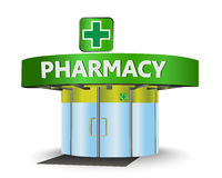 Pharmacy building Royalty Free Stock Photos