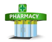 Pharmacy building. As a concept symbol Royalty Free Stock Photos