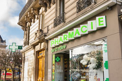 Pharmacy Building Facade France Royalty Free Stock Photography