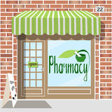 Pharmacy building Royalty Free Stock Image