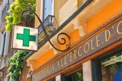 Pharmacy building in Venice, Italy Royalty Free Stock Image