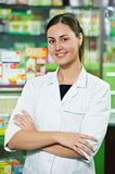 Pharmacy chemist woman in drugstore Stock Photo