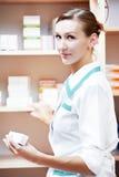 Pharmacy chemist woman in drugstore Stock Photography